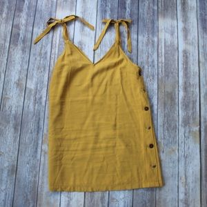 TopShop Yellow Gold side Button Dress